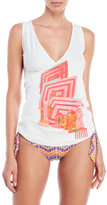 save the queen Printed Surplice Cover-Up Tank
