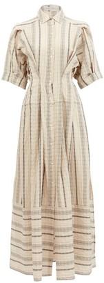 Palmer Harding Palmer//harding - Sundra Striped Linen-blend Shirt Dress - Beige Stripe
