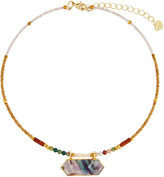 Nakamol Beaded Choker Necklace w/ Unakite Pendant