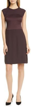 HUGO BOSS Desma Satin & Matte A-Line Dress