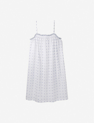The White Company Ruffle-trimmed patterned cotton night dress
