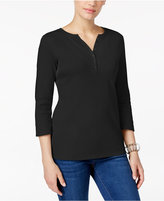 Karen Scott Henley Top, Only at Macy's