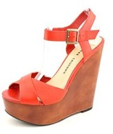 Chinese Laundry Join Me Open Toe Leather Wedge Sandal.
