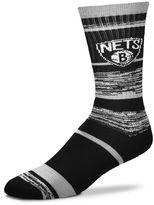 For Bare Feet Adult Brooklyn Nets RMC Stripe Crew Socks