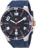 Tommy Hilfiger Men's Sport Bezel and Silicon Strap Watch 1790862
