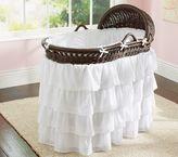 Pottery Barn Kids Ruffle Bassinet Nursery Bedding Set: Crib Bumper & Crib Skirt