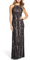 Women's Morgan & Co. Lace Column Gown