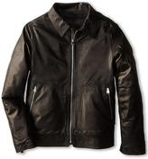 Dolce & Gabbana Zip-Up Leather Jacket (Big Kids)
