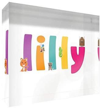 BEIGE Little Helper Gallery-Wrapped Box Canvas with Solid Front Panel (60 x 40 x 4cm, Large, Beige, Baby Footprint)