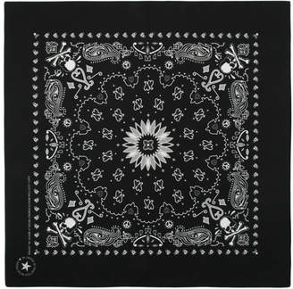 mastermind WORLD Two-Pack Black and Red Skull Bandanas