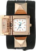 La Mer Women's LMPYRAMID003 Black Rose Gold Cairo Wrap Watch