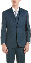 English Laundry Factory 3Pc Wool Suit With Flat Front Pant