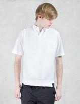 Kolor Shoulder Patched Knit Vest