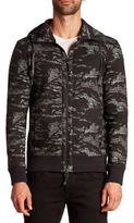 Madison Supply Hooded Camo Print Jacket