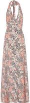Paul & Joe Printed Crepe Halterneck Maxi Dress