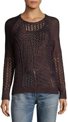 Leo & Sage Open Stitch Raglan Sweater