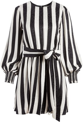 Alice + Olivia Estefana Striped Midi Dress