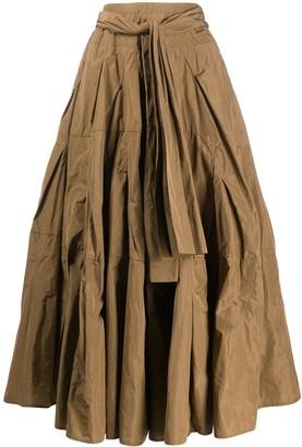Odeeh Crinkled Full Shape Skirt