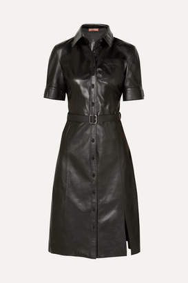 Altuzarra Kieran Belted Leather Dress - Black