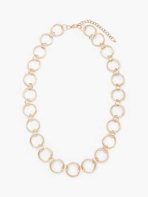 John Lewis & Partners Circle Ring Necklace, Gold