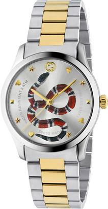 Gucci Men's Snake Yellow Gold PVD-Trim Bracelet Watch