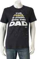 """Men's Star Wars """"The Force Is Strong with This Dad"""" Tee"""