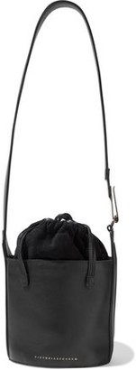 Victoria Beckham Small Textured-leather And Suede Bucket Bag