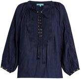 Melissa Odabash Alessandra lace-up shirt