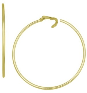 Essentials Fine Silver Plated Large Clip-On Hoop Earrings, 2.16""