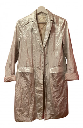 Maje Silver Cotton Trench coats
