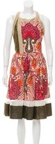 Thakoon Floral Print Sheer Yoke Dress