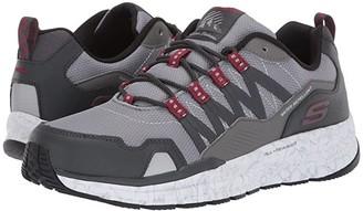 Skechers Escape Plan 2.0 Ashwick (Gray/Red) Men's Shoes