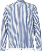 Sacai drawstring hem pinstriped shirt