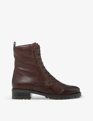 Dune Prestone lace-up leather boots