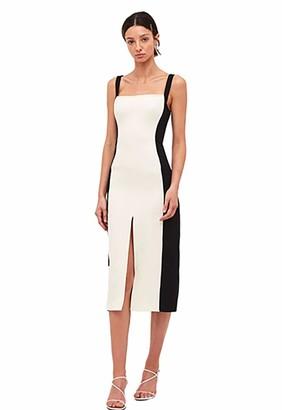 C/Meo Women's Sleeveless Square Neck Consumed Midi Sheath Dress