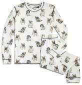 PJ Salvage Girls' Dog-Print Pajama Set - Little Kid