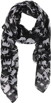 Simplicity Lovely Animal or Elephant Patterned Sheer Lightweight Pashmina Scarf
