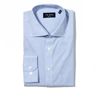 The Tie Bar Summer Solid Blue Non-Iron Shirt