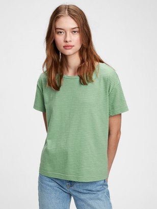Gap Relaxed Striped Cropped Top