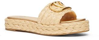 Valentino VLOGO Woven Platform Slide Sandal