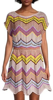 M Missoni Zigzag Crochet Dress