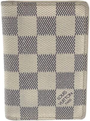 Louis Vuitton Pocket Organizer Beige Cloth Small bags, wallets & cases