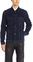 7 For All Mankind Men's Trucker Denim Jacket in Luxe Performance