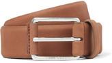 HUGO BOSS 3.5cm Tan Catios Nubuck Belt