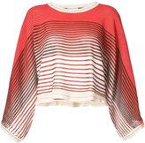 Sonia Rykiel striped cropped sweater - women - Cotton/Viscose - S