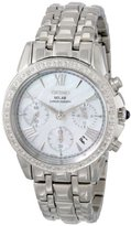 Seiko Women's SSC893 Stainless Steel Diamond-Accented Watch