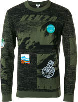 Kenzo printed patch jumper