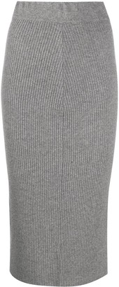 Andamane Ribbed Pencil Skirt