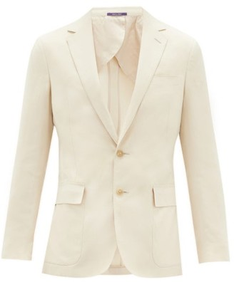 Ralph Lauren Purple Label Single-breasted Silk-blend Suit Jacket - Cream