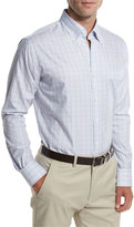 Peter Millar Yucatan Check Sport Shirt, Violet